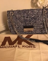 Authentic michael kors purse with silver chain