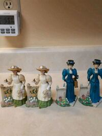 four assorted ceramic figurine collection Waterloo, N2L 5W3
