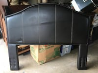 Beautiful full size bed leather headboard paid $900 now - Mc Lean