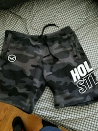 black and gray camouflage shorts Mount Vernon