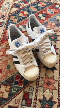 White-and-black adidas superstar