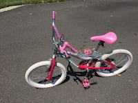 toddler's pink and white bicycle Doylestown, 18901
