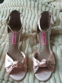 pair of light pink open-toe ankle strap heels Rocky Mount, 27803