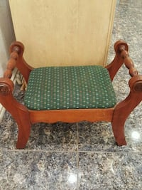 brown wooden framed green padded armchair Los Angeles, 90041