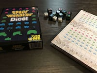 Space Invaders Dice! board game - Like New (PLUS MANY MORE!) WOODBRIDGE