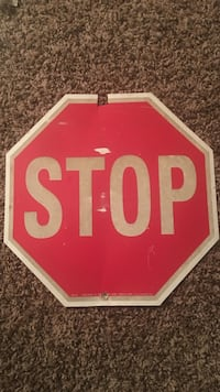 Old small stop sign