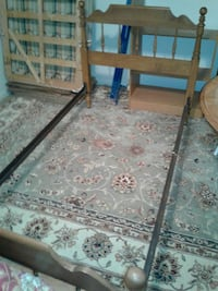 Head and foot board single bed frame
