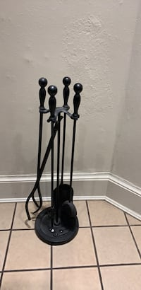 Wrought iron 5 piece Fireplace set