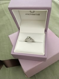 Micheal Hill 10k white gold princess cut engagement ring Victoria, V8N 2L5
