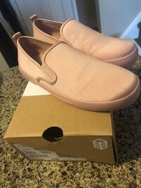 Pink slip on vans style shoes