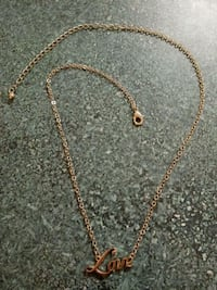 Gold Love Necklace Streamwood