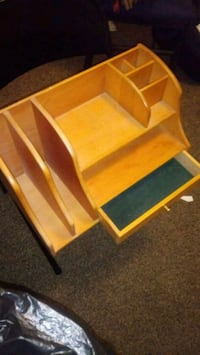 Wooden table top organizer