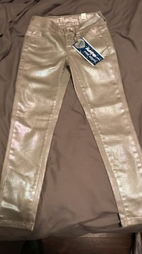 Justice Super Skinny Metallic Girls Jeans 7 Moselle, 39459