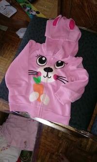 pink and white Minnie Mouse print hoodie TORONTO