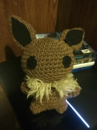 brown Pikachu knitted doll