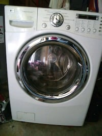 white LG front-load clothes washer 539 mi