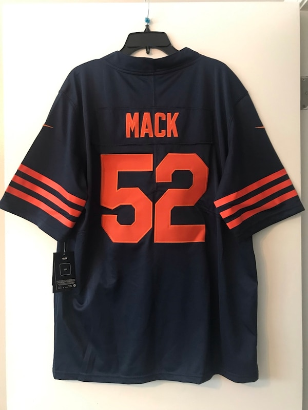 100% authentic 4e56a 1808d Khalil Mack Chicago Bears Throwback Jersey