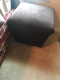Dark Brown Storage Ottoman 22 km