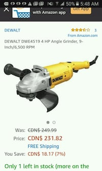 yellow and black DeWalt cordless power drill Vancouver, V5K