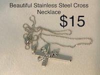 Stainless Steel Cross Necklace and chain