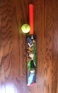 Hard plastic cricket bat and ball Age 2+