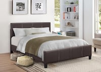 Brand New Queen Size Leather Platform Bed  Silver Spring, 20902
