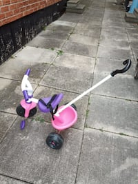 Toddler Pink & Purple Tricycle with Push handle