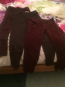 Size 26 W girl's burgundy jeans H&M and Brody