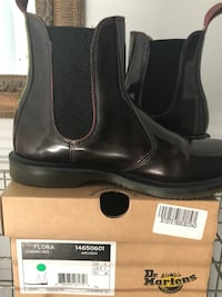 pair of black leather boots Brant, N3L 4G4