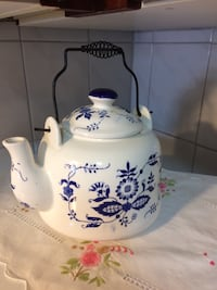 Porcelain Blue On White Teapot.