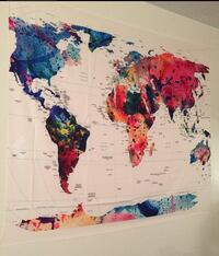 Map Tapestry 56x50 Baltimore, 21218