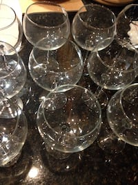 26 wine glasses 7' tall 3 1/2 wide