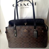 brown and black Coach leather tote bag Orlando, 32819