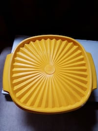 Yellow Tupperware container