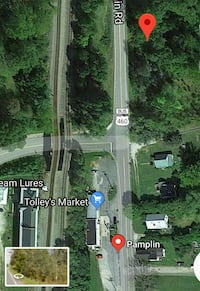 Five Acres of Commercial Road Frontage on Route 46 Pamplin, 23958