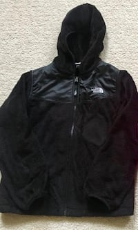 Black North Face fleece jacket kids large size 14/16 Germantown, 20874