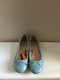 Blue leather OVS flats with bow accent Alexandria, 22303