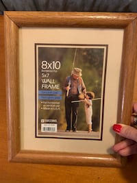 8x10 photo frames with glass - solid oak easel back Clifton, 20124