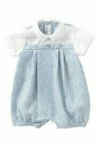 toddler's white and blue footies Montana