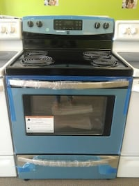 blue electric coil range oven Clayton, 27520