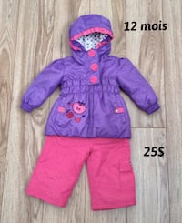 toddler's pink and purple pull-over hoodie and pants Saguenay, G7H 5A8