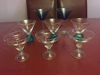 four clear long-stem wine glasses Catonsville, 21228