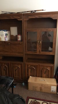 brown wooden cabinet with mirror Leduc, T9E 8P6
