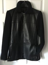 Leather / sweater jacket (small)