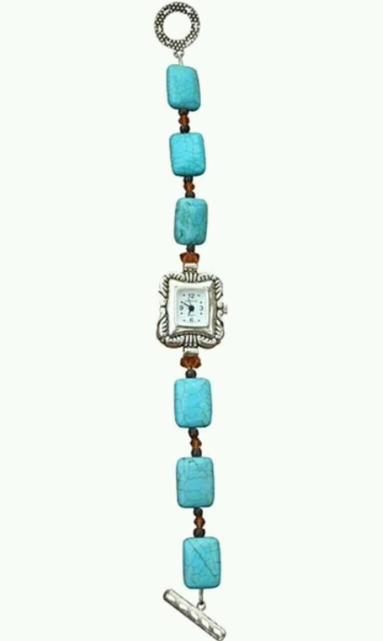 Photo Mountain Blue Turquoise and Crystal Watch