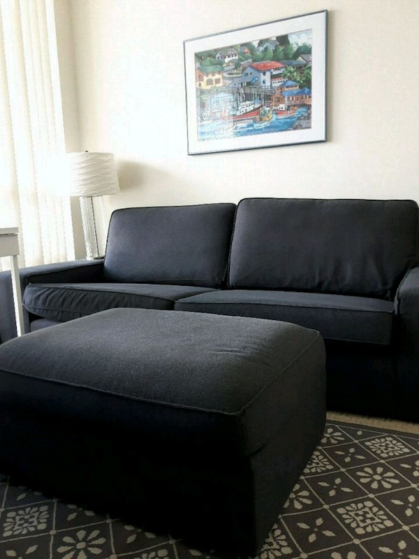Couch and ottoman(going in storage in 2 days)