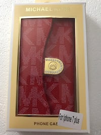 Monogrammed red michael kors phone case with box Lakehills, 78063