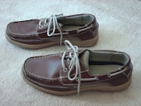 Men's Jarman Brown Leather Boat Deck Loafer Shoes Lace Up Size 7.5 Moore