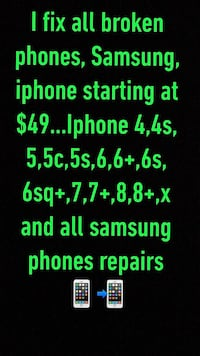 Data recovery Phone screen repair I fix all broken phones iphone 4,4s,5,5c,5s,6,6+,6s,6sq+,7,7+,8,8+,x and all samsung phones repairs Silver Spring