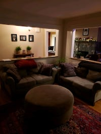 2 love couches and ottoman